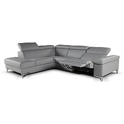 Megan Sectional Sofa with Electric Recliner