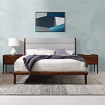 Mercury Upholstered Platform Bed / Front view