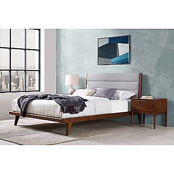 Mercury Upholstered Platform Bed / side view