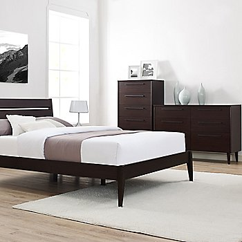Lifestyle, shown with Drawer Dresser in Mocha with Sienna Platform Bed and 5 Drawer Chest (sold separately)