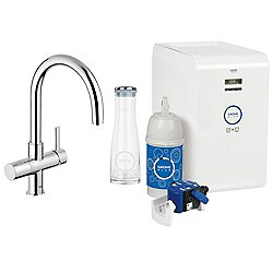 GROHE Blue Chilled & Sparkling Dual Function Faucet Starter Kit