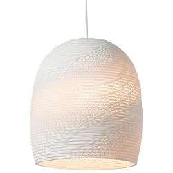 Bell Scraplight White Pendant Light