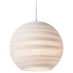Moon Scraplight White Pendant Light