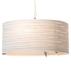 Drum Scraplight White Pendant Light