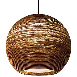 Sun Scraplight Natural Pendant Light