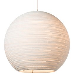Sun48 Scraplight White Pendant Light