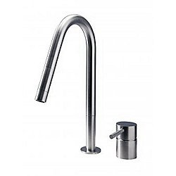 F2 E Kitchen Faucet Stainless Steel