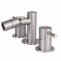 Three-Hole Bidet Faucet MB305 Stainless Steel