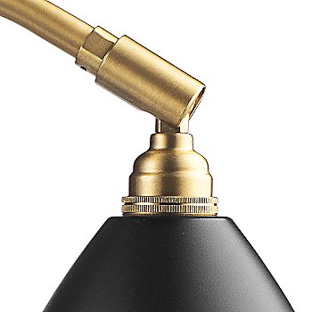 Shown in Brass with Black finish