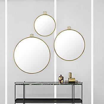 Rondaccio Circular Mirror with TS Console Table 2-Rack