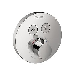 ShowerSelect E Thermostatic Round 2-Function Trim