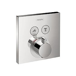 ShowerSelect Square Thermostatic 2 Function Trim