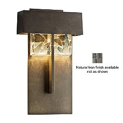 Shard Large LED Outdoor Wall Sconce (Natural Iron) - OPEN BOX