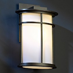 Province Outdoor Wall Sconce (Opal/Bronze/Large) - OPEN BOX RETURN