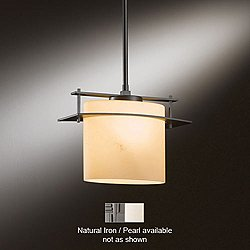 Arc Ellipse Medium Pendant (Standard / 36-50.5 Inches/Incandescent/Natural Iron/Pearl) - OPEN BOX RETURN
