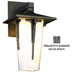 Modern Prairie Outdoor Wall Sconce (Opal/Natural Iron/Small) - OPEN BOX RETURN