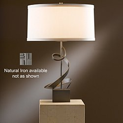 Gallery Spiral Table Lamp (Natural Anna/Natural Iron) - OPEN BOX RETURN