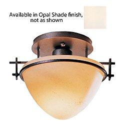 Moonband Oval Semi-Flushmount(Opal/Mahogany)-OPEN BOX RETURN