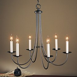 Simple Sweep Six Arms Chandelier (Natural Iron) - OPEN BOX