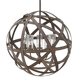 Carson Outdoor Chandelier (Vintage Iron/3 Lights) - OPEN BOX