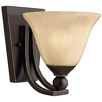 Olde Bronze finish with Light Amber Seedy Glass
