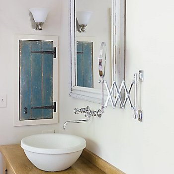 Brushed Nickel finish with Opal Glass