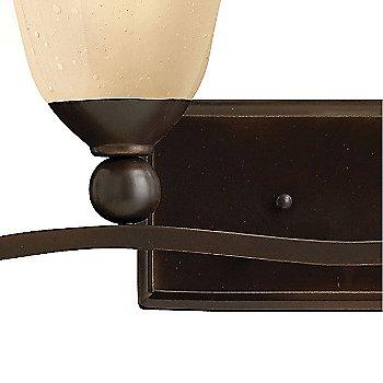 Olde Bronze / Light Amber Seedy Glass finish