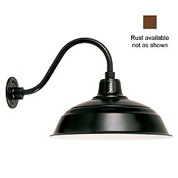 Gooseneck Barn Light Warehouse - B-1 Arm (17/Rust)-OPEN BOX