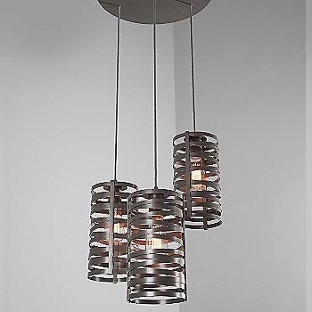 None, Exposed Lamping / Metallic Beige Silver finish