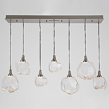 Shown in Metallic Beige Silver finish, Clear shade