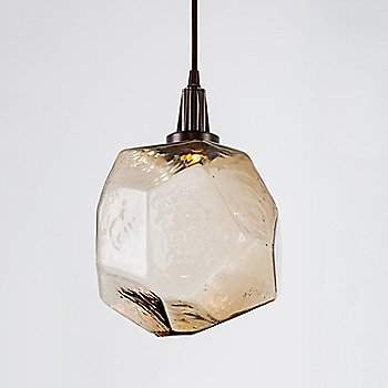 Metallic Beige Silver finish / Clear Glass shade