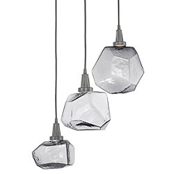 Gem Round LED Waterfall Multi-Light Pendant Light
