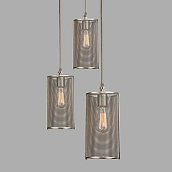 Downtown Mesh Square Multi-Light Pendant
