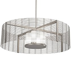 Downtown Mesh Drum Chandelier