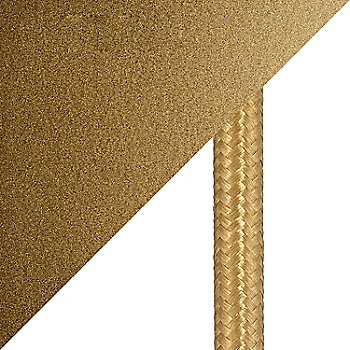 Gilded Brass finish / cord detail