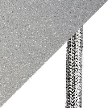 Metallic Beige Silver finish / cord detail