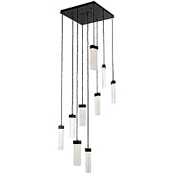 Parallel Glass Square LED Multipoint Pendant Light