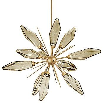 Chilled Bronze glass / Gilded Brass finish