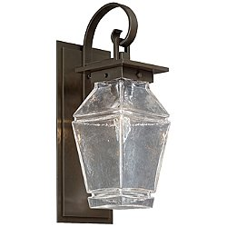 Outdoor Signal Wall Light with Scroll