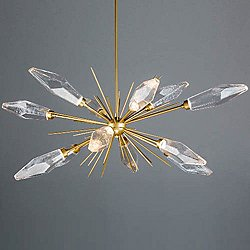 Rock Crystal Oval Starburst LED Chandelier