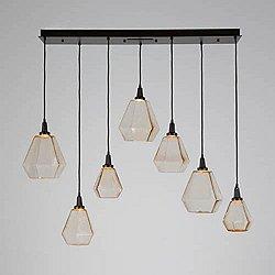 Hedra Multi Light Linear LED Pendant Light