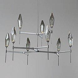 Rock Crystal LED Belvedere 2-Tier Chandelier