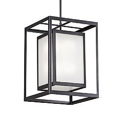 Outdoor Double Box Pendant Light