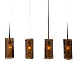 Textured Glass Multi-Port Linear Suspension Light