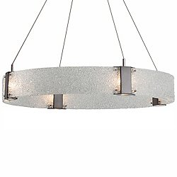Parallel Ring LED Chandelier (Satin Nickel/33 In) - OPEN BOX