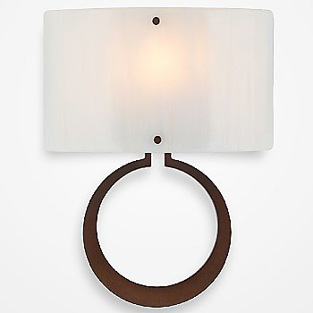 Shown in Oil Rubbed Bronze finish, Ivory Wisp