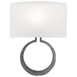 Carlyle Circlet Linen Wall Sconce