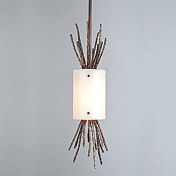 Shown in Ivory Wisp shade with Oil Rubbed Bronze finish