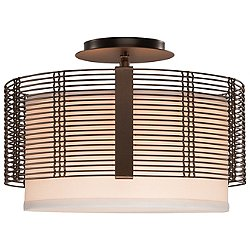 Downtown Mesh Semi Flush Ceiling Light