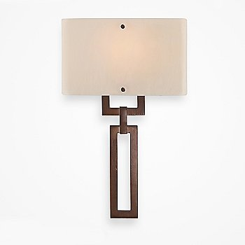 Oil Rubbed Bronze finish / Ivory Wisp shade